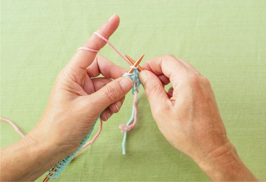 continental knitting knit stitch
