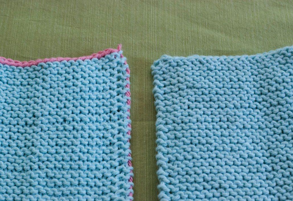 continental knitting knit stitch edge stitch