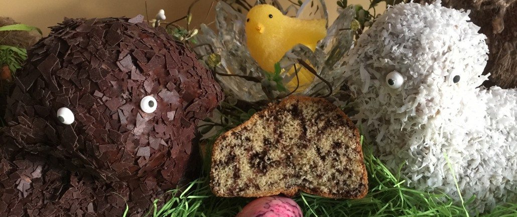 Decorating & serving Easter Lamb Cake Recipe