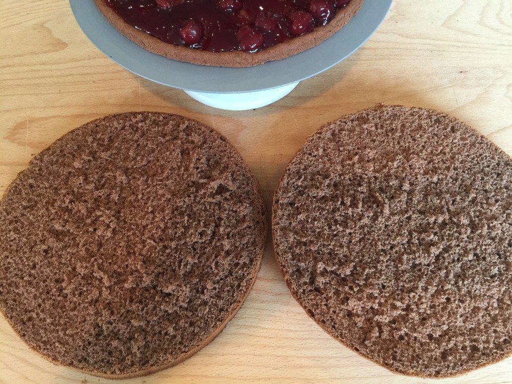Sponge for traditional Black Forest Cake