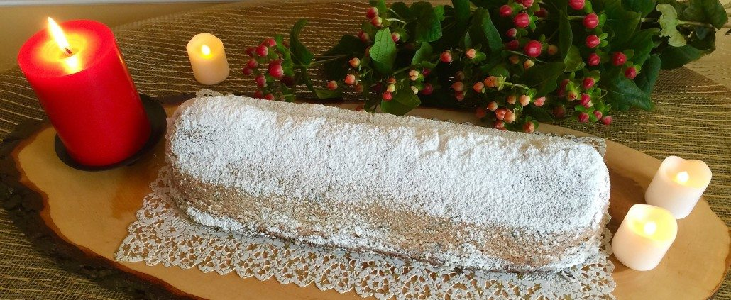Serving Marzipan Stollen