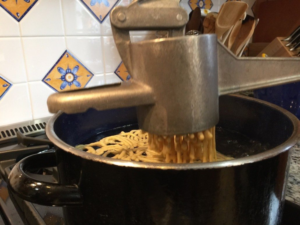 Cooking German Homemade Spaetzle