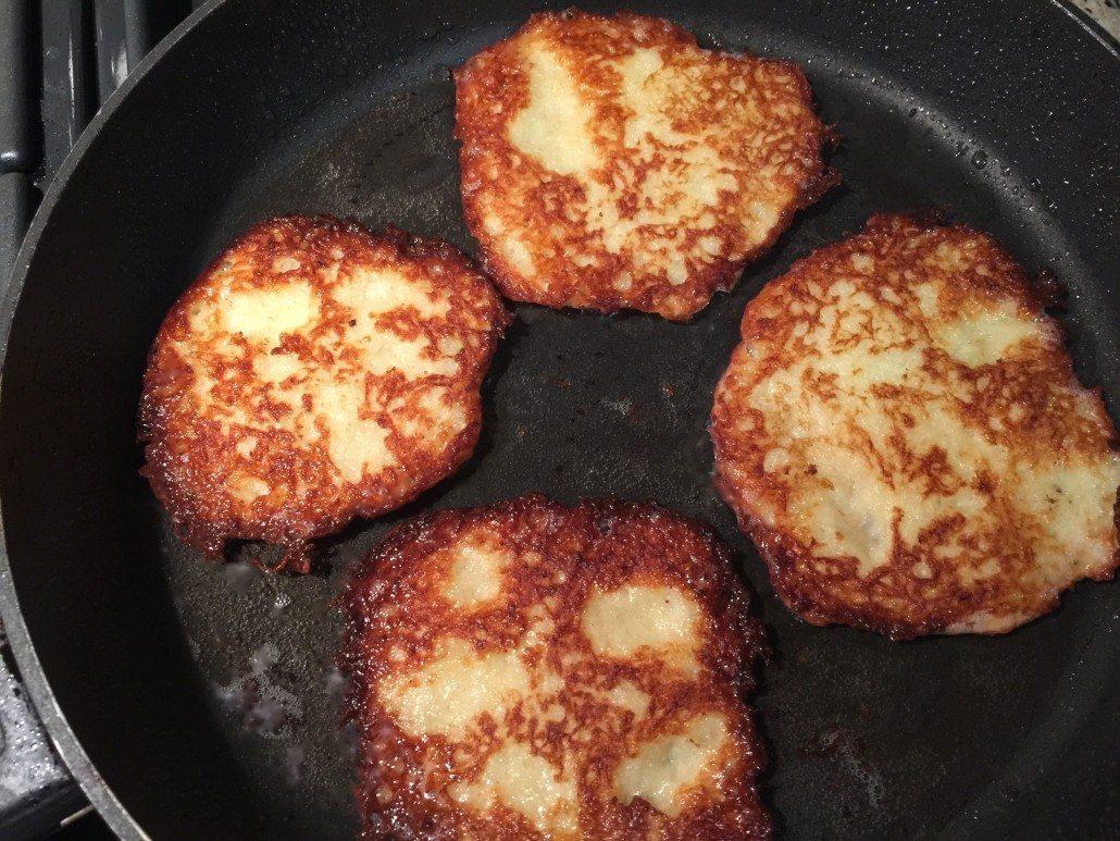 Frying Classic Potato Pancakes