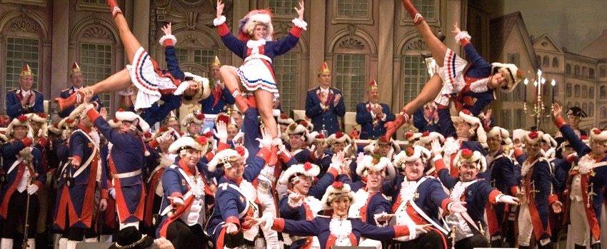 German Karneval Mardi Gras Show Dancing