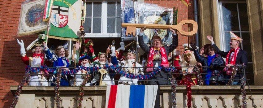 German Karneval Mardi Gras Taking over Town Hall