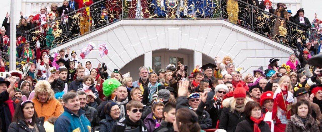 German Karneval Mardi Gras Spectators