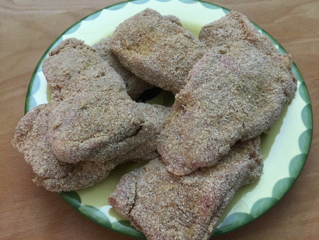 breading of the traditional cordon bleu