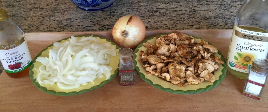 mushroom and onion side dish for German pasta pillows