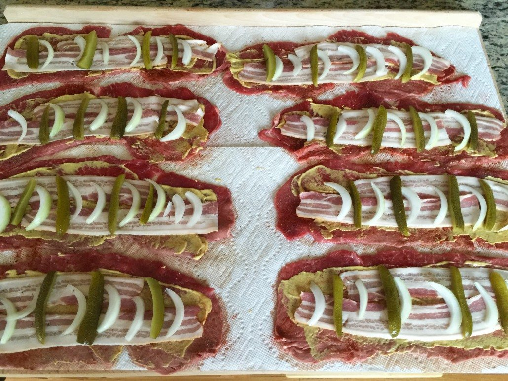 Preparation German Beef Rouladen Recipe