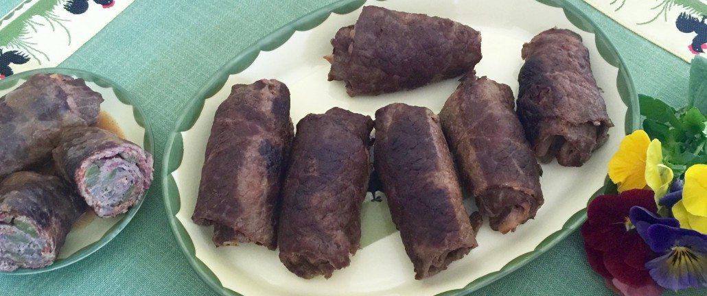 Finishing German Beef Rouladen Recipe