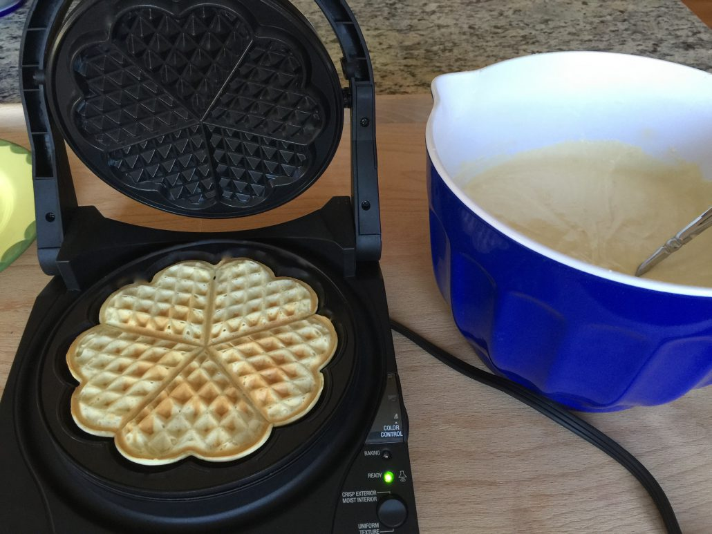 Baking of the Classic Homemade Waffles